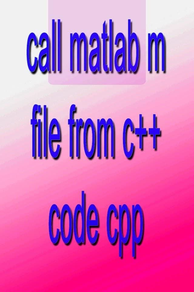 Inscrição nº                                         15                                      do Concurso para                                         call matlab m file from c++ code cpp