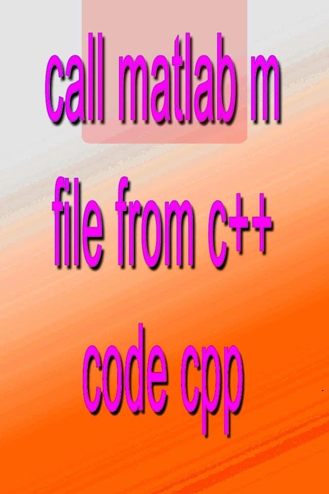 Inscrição nº                                         20                                      do Concurso para                                         call matlab m file from c++ code cpp