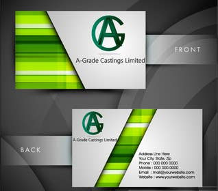 selinayilmaz1 tarafından Design some Business Cards for A-Grade Castings Limited için no 10