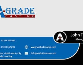 #3 untuk Design some Business Cards for A-Grade Castings Limited oleh anandsalat