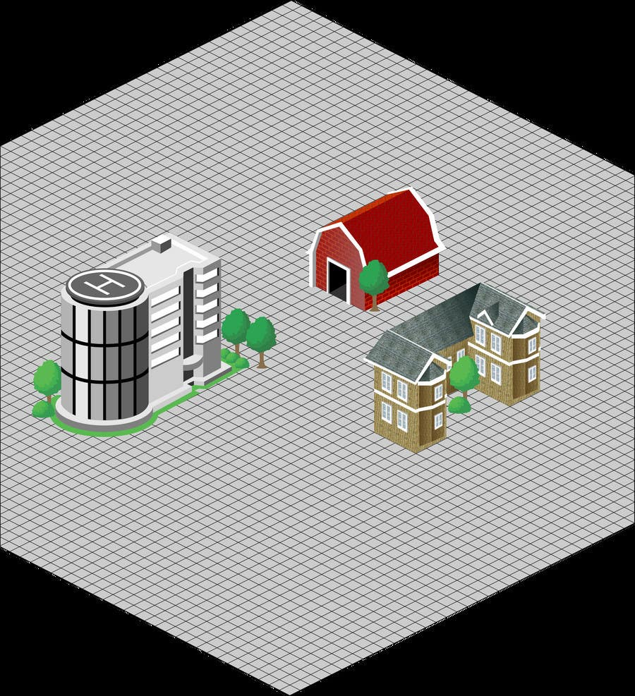 Contest Entry #20 for 100 isometric building designs for iPhone/Android city building game