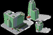Graphic Design Contest Entry #2 for 100 isometric building designs for iPhone/Android city building game