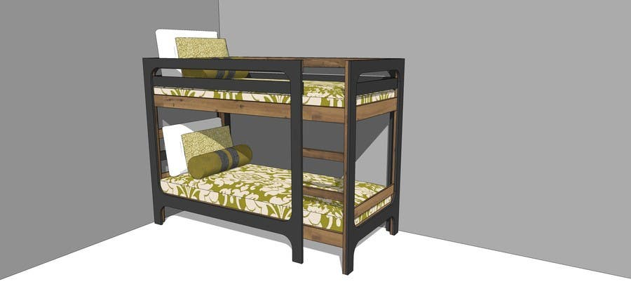Penyertaan Peraduan #16 untuk IKEA Bunk Bed Hackathon - Mid Century Modern