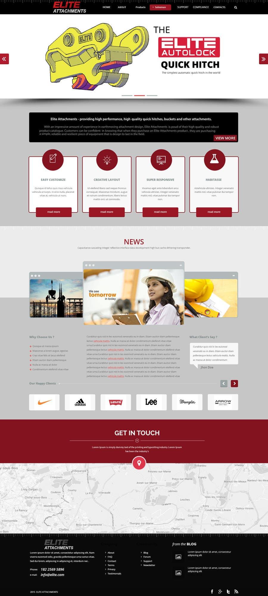 Konkurrenceindlæg #15 for Design a Website Mockup for Elite Attachments Website