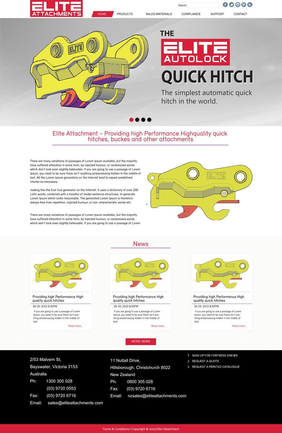 Konkurrenceindlæg #13 for Design a Website Mockup for Elite Attachments Website
