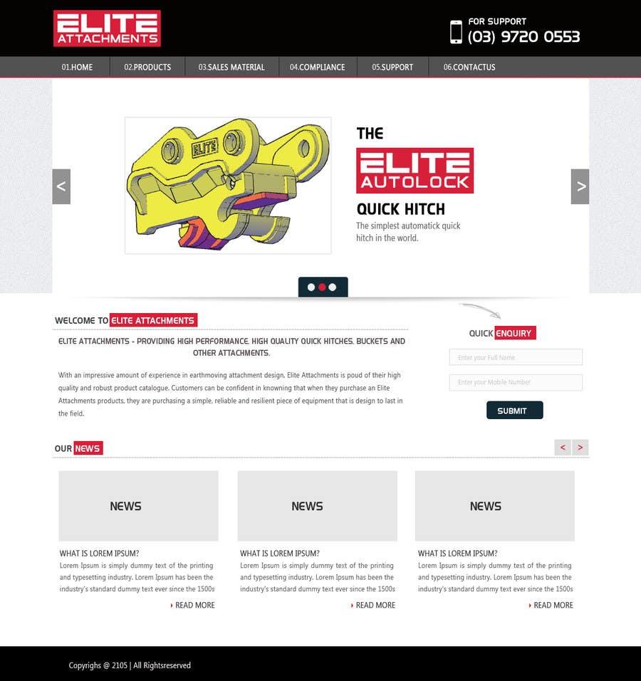 Konkurrenceindlæg #5 for Design a Website Mockup for Elite Attachments Website