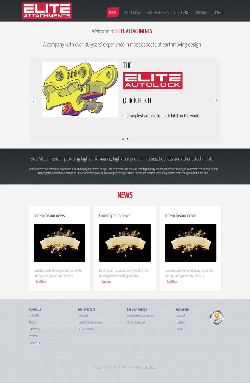 Konkurrenceindlæg #18 for Design a Website Mockup for Elite Attachments Website