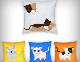 #14 untuk Print design on the cloth --cat toys square pillows oleh parikhan4i