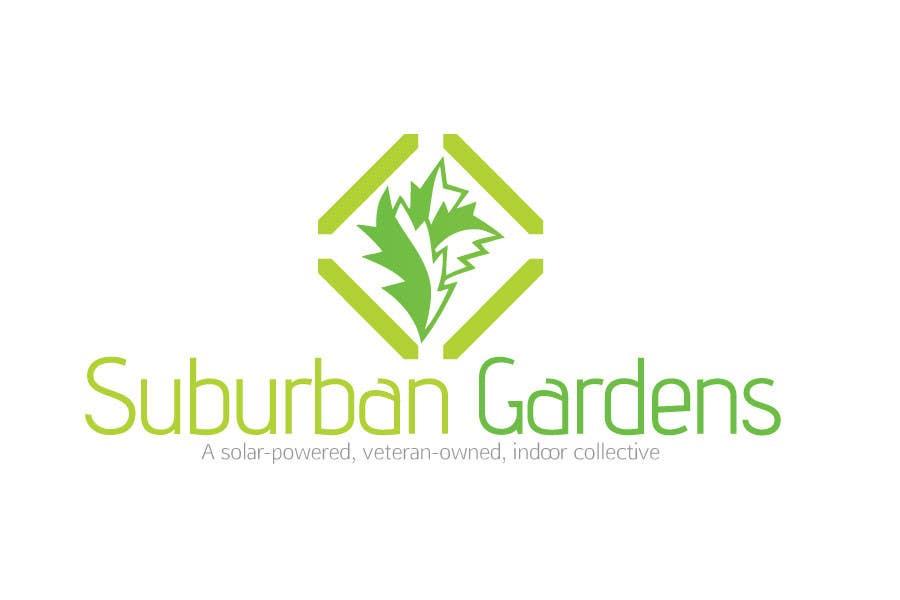 Konkurrenceindlæg #                                        72                                      for                                         Logo Design for Suburban Gardens - A solar-powered, veteran owned indoor collective