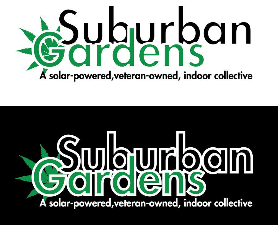 Konkurrenceindlæg #                                        55                                      for                                         Logo Design for Suburban Gardens - A solar-powered, veteran owned indoor collective