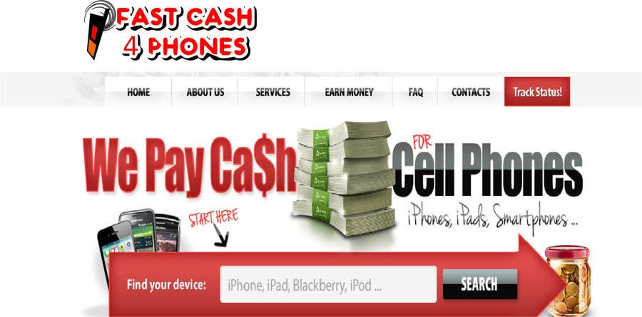 Entri Kontes #                                        102                                      untuk                                        Logo Design for Fast Cash 4 Phones