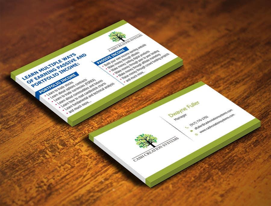 Kilpailutyö #3 kilpailussa Design some Business Cards for Cash Creation Systems