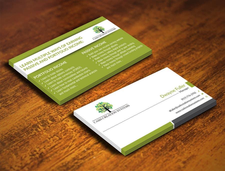Kilpailutyö #4 kilpailussa Design some Business Cards for Cash Creation Systems