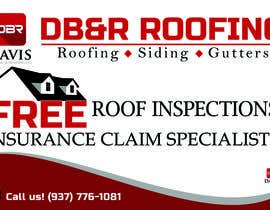 #4 untuk Design a Yard Sign for a roofing company oleh michaelmoscoso04