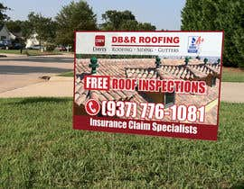 #17 cho Design a Yard Sign for a roofing company bởi teAmGrafic