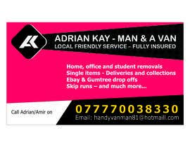 pravinzade tarafından Design some Business Cards for removals/handy man için no 9