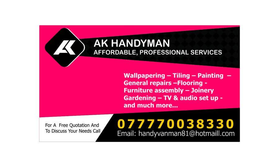 Kilpailutyö #10 kilpailussa Design some Business Cards for removals/handy man