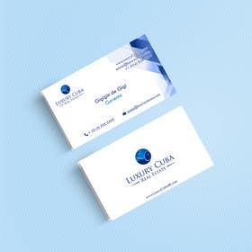 #32 untuk Design Business Cards for LuxCuba oleh fahdsamlali