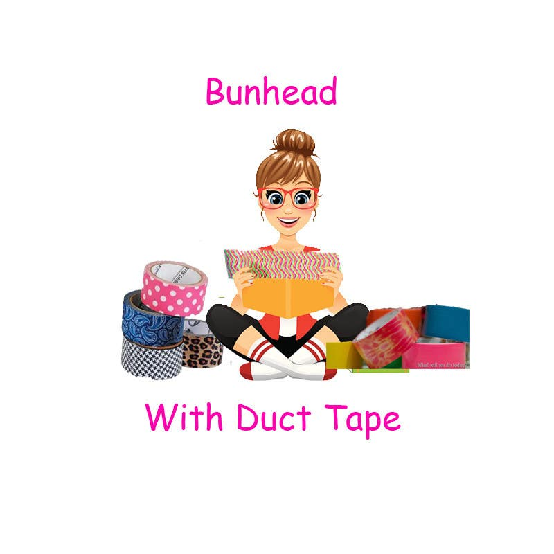 "Penyertaan Peraduan #5 untuk Design a Logo for my ""Bunhead with Duct Tape"" Website/Blog/Business Cards"