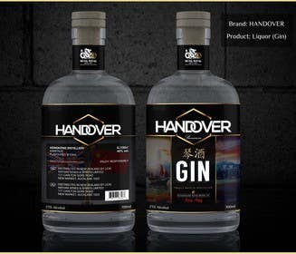 #234 untuk Design a Logo and bottle label for Handover Gin oleh chubbycreations