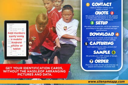 #5 for Design a 4x6 Flyer for Kids Soccer Club & Church identity cards af johanfcb0690