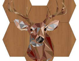 #25 untuk Illustrate a geometric animal head oleh SJensen13