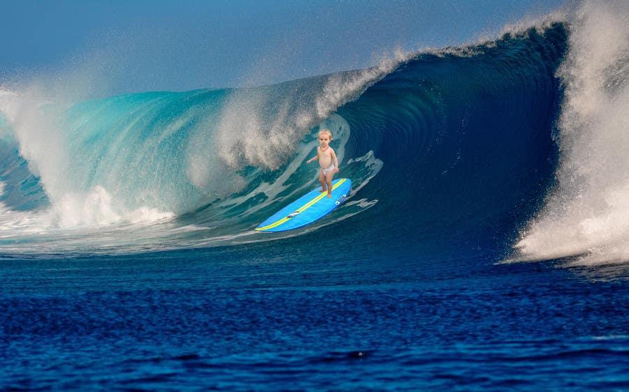 Kilpailutyö #2 kilpailussa SURFING BABY!