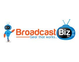 "#16 untuk Design a Company Logo and mascot for ""BroadcastBiz.tv"" oleh georgeecstazy"