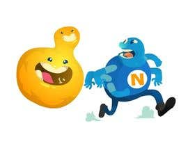 Nro 8 kilpailuun I need a cartoon image of yeast eating nitrogen (quick job) käyttäjältä STrangethoughts