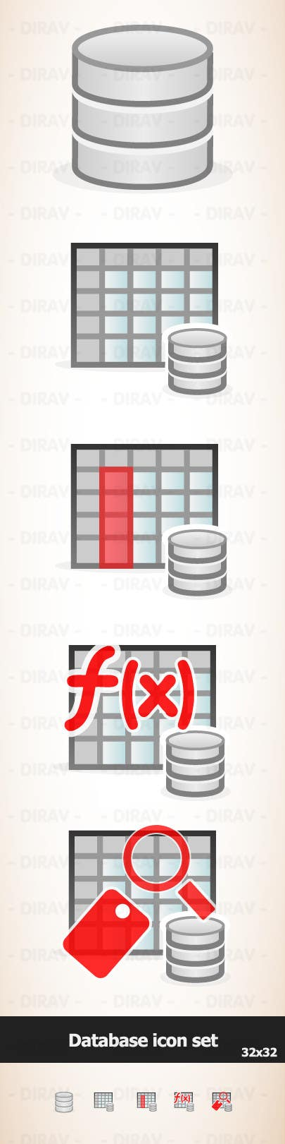 Contest Entry #12 for Design some Icons for database icon set