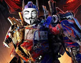 #3 for V FOR VENDETTA    VS    OPTIMUS PRIME af Gancov