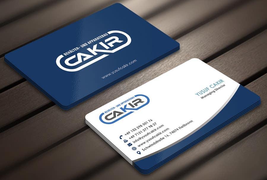 Penyertaan Peraduan #88 untuk Design of a Businesscard and a letterhead for the Company CAKIR