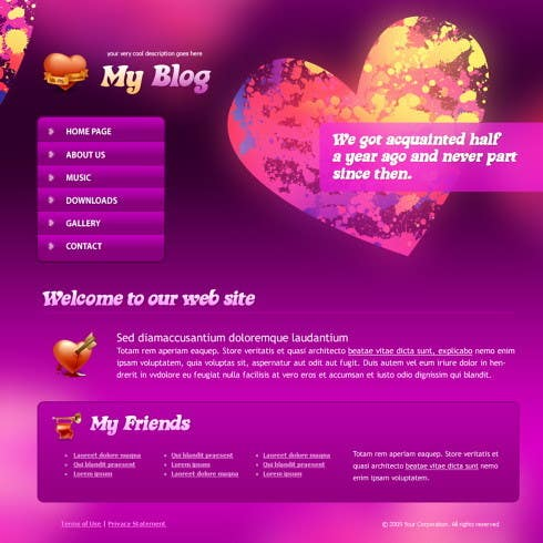 Format for dating site