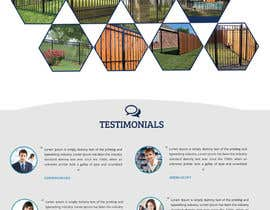 lunadevcorp tarafından Design a Website Mockup for Fortress Fencing Building Homepage için no 12