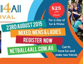 #29 for Design a Banner for Netball Carnival by amdisenador