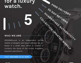 #18 for Design a Flyer for a luxury watch store by mdusault