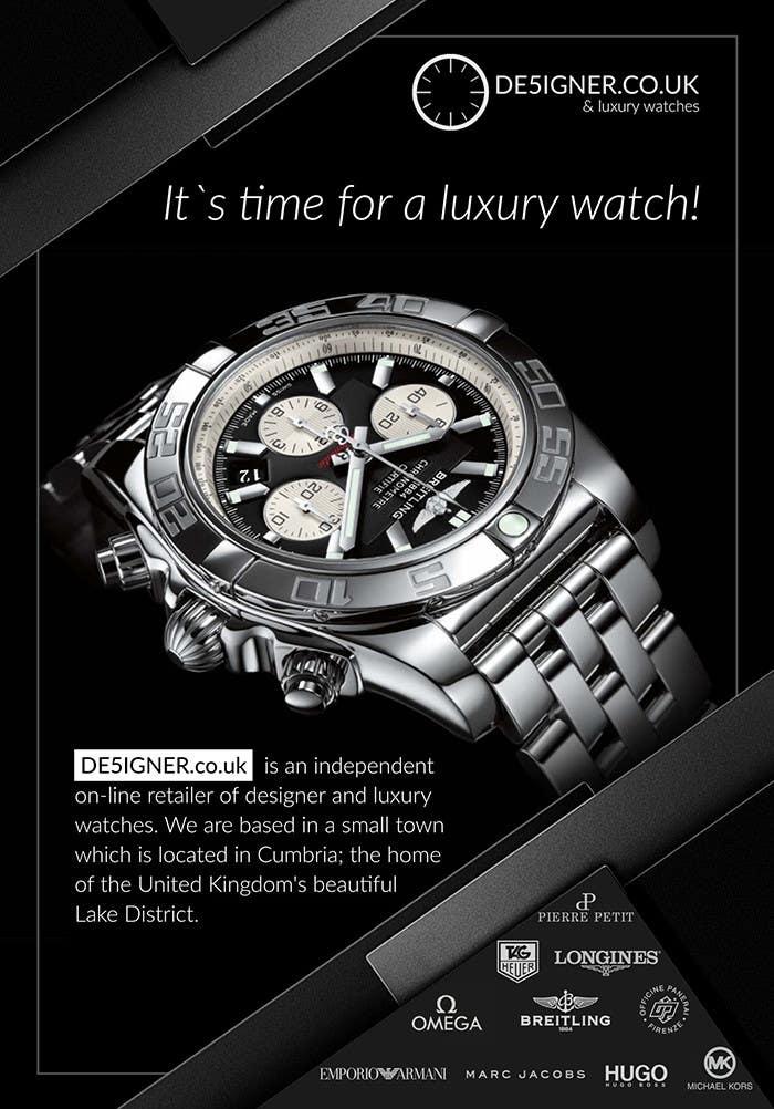 Penyertaan Peraduan #35 untuk Design a Flyer for a luxury watch store