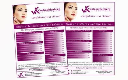 Nro 12 kilpailuun Design a Flyer for aesthetic clinic -- 2 käyttäjältä LeeniDesigns
