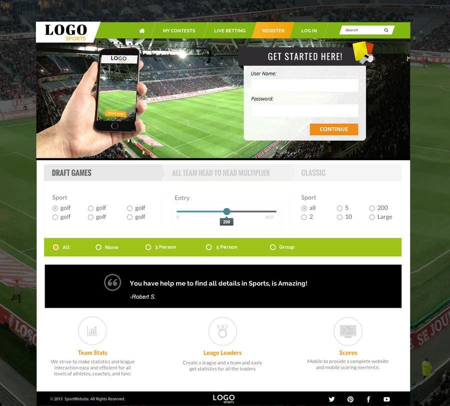 Penyertaan Peraduan #19 untuk Design a Website Mockup for  interface