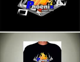 #34 for Design a Logo for Phoenix Screen Printing af ALEJVNDRO
