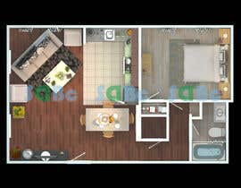 #9 for Re-draw floorplan to color 3D drawing af SDBcIndia