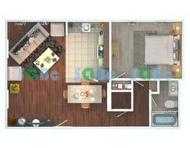 #11 for Re-draw floorplan to color 3D drawing af SDBcIndia