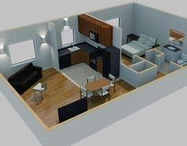 #19 para Re-draw floorplan to color 3D drawing por amdisenador
