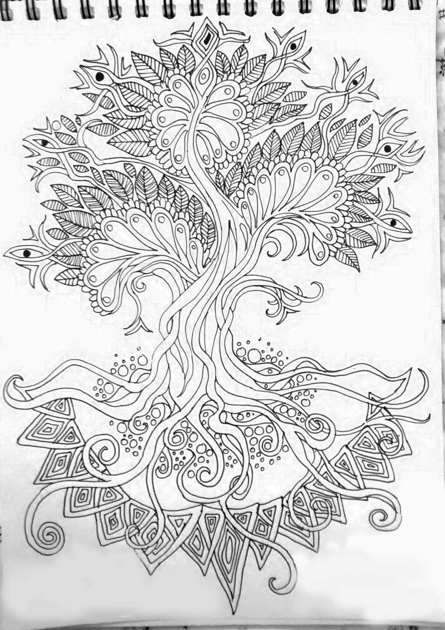 Inscrição nº 46 do Concurso para Illustrate 5 Original Spiritual Images (Line Illustration in Mendhi or Persian Vector Style or Similar)