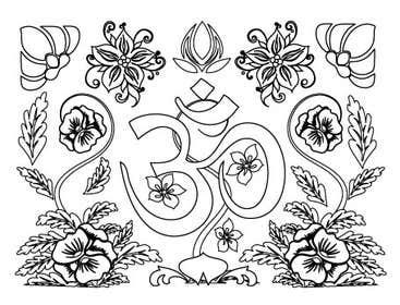 #5 for Illustrate 5 Original Spiritual Images (Line Illustration in Mendhi or Persian Vector Style or Similar) af mogado