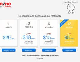 #15 para Design a subscription page por alfianrismawan
