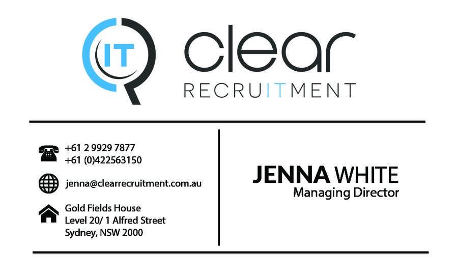 Penyertaan Peraduan #30 untuk Recruitment Firm Business Card