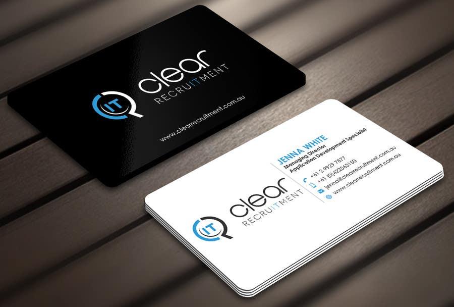 Penyertaan Peraduan #23 untuk Recruitment Firm Business Card