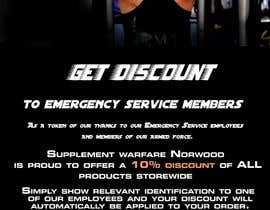 #22 untuk design a poster advertising discounts for emergency service members oleh wcmcdesign