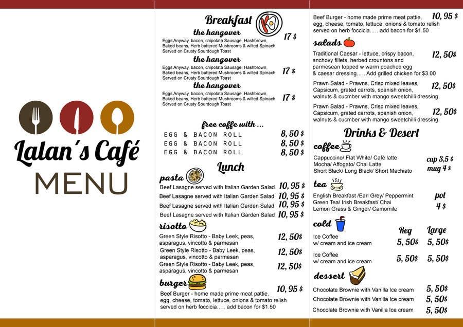 Kilpailutyö #15 kilpailussa Design a Brochure for Cafe Menu